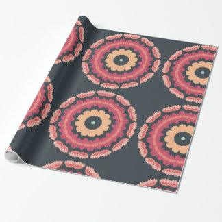 Tribal Geometric Floral Gift Wrapping Paper
