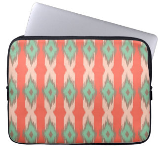 Tribal geometric ikat girly abstract Aztec pattern Laptop Sleeve