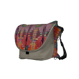 Tribal Geometric Pattern Commuter Courier Bags