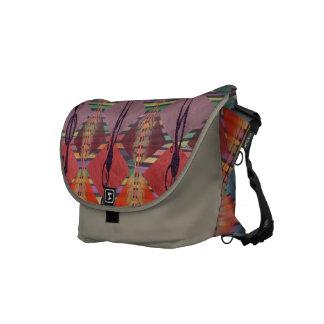 Tribal Geometric Pattern Commuter Messenger Bag