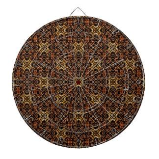 Tribal Geometric Print Dartboard