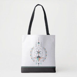 Tribal Geometric Totem Tote Bag