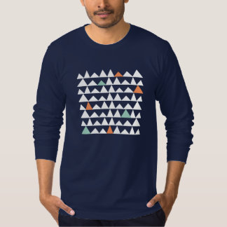 Tribal Geometric Triangles Aztec Andes Pattern T-Shirt