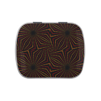 Tribal Geometric Vintage Pattern Jelly Belly Candy Tin