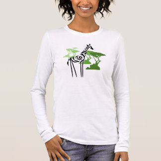 Tribal Giraffe - Green Long Sleeve T-Shirt