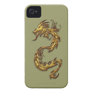 Tribal Gold Dragon Fantasy Art iPhone Case Case-Mate iPhone 4 Cases