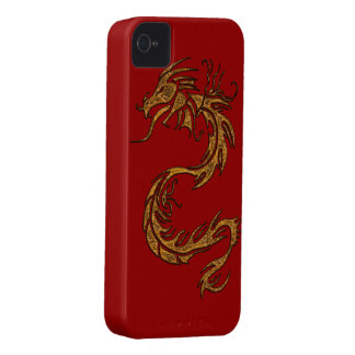 Tribal Gold Dragon Fantasy Mythical iPhone Case Case-Mate iPhone 4 Case