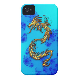 Tribal Gold Dragon & Fractals Art iPhone Case iPhone 4 Cover