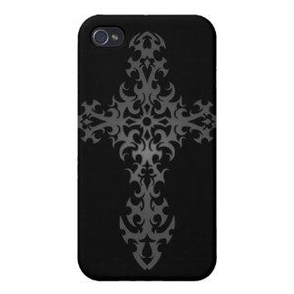 Tribal Gothic Cross – dark iPhone 4/4S Cases
