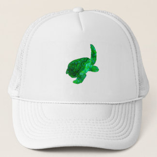 Tribal Green Sea Turtle Trucker Hat