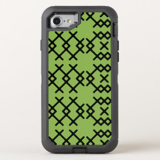 Tribal Greenery Green Nomad Geometric Shapes OtterBox Defender iPhone 8/7 Case