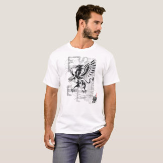 Tribal gryphon - white t-shirt