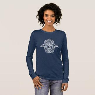 tribal hamsa design women's long sleeved shirt