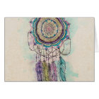 tribal hand paint dreamcatcher mandala design card
