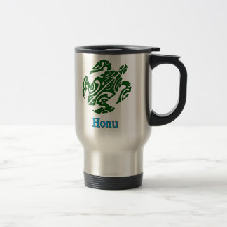 Tribal Hawaiian Green Sea Turtle Travel Mug