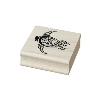 Tribal Hawaiian Sea Turtle Rubber Stamp
