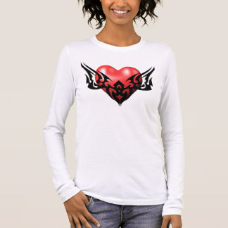 Tribal Heart Long Sleeve T-Shirt