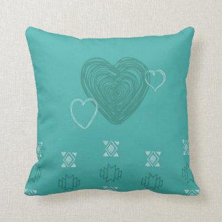 tribal hearts pillow