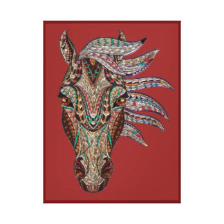 TRIBAL HORSE WALL ART, ZEN  TOTEM HORSE CANVAS