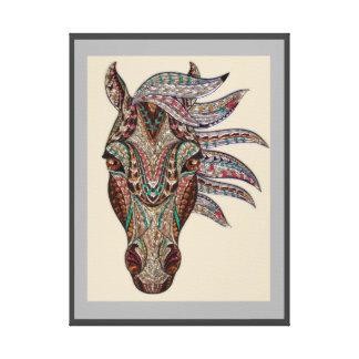 TRIBAL HORSE WALL ART, ZEN  TOTEM HORSE CANVAS