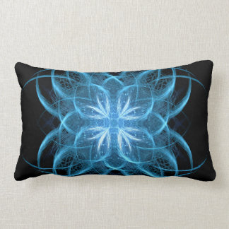 """Tribal Ice"" - Crystal Blue Fractal Art Pillow"