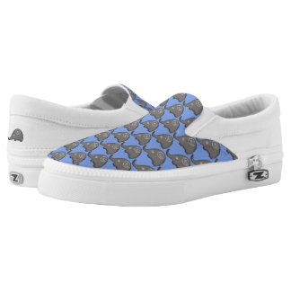 Tribal iconic trendy cute spiral elephants pattern Slip-On shoes