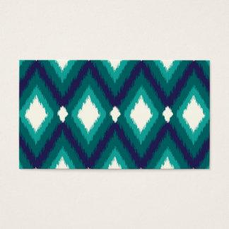 Tribal Ikat Chevron Blank Business Card Template