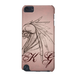 Tribal Indian Winged Skull Ipod Touch Case