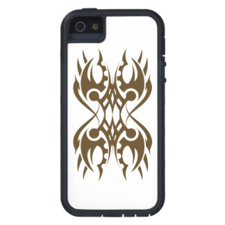 Tribal iphone 18 gold to over white case for iPhone 5
