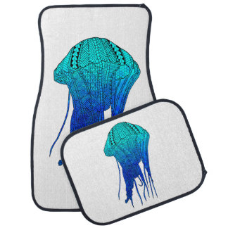 Tribal Jellyfish Car Mat