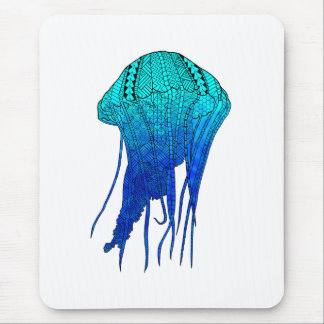 Tribal Jellyfish Mouse Pad