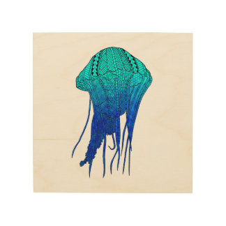 Tribal Jellyfish Wood Canvases