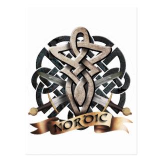Tribal Knot viking B Post Card