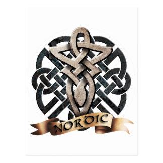 Tribal Knot viking C Postcard