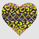 TRIBAL LEOPARD 4 Purple Native Animal Pattern