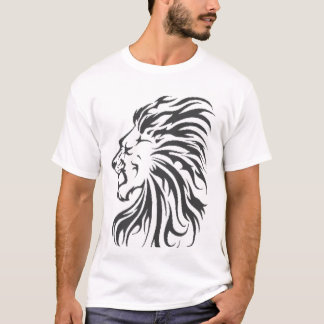 tribal lion-head t-shirt