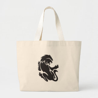 Tribal Lion Tattoo Design Tote Bags