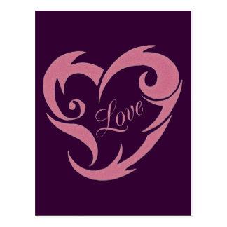 TRIBAL LOVE HEART POSTCARDS