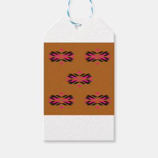 Tribal luxury pattern Brown / Aztecs Gift Tags