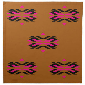Tribal luxury pattern Brown / Aztecs Napkin