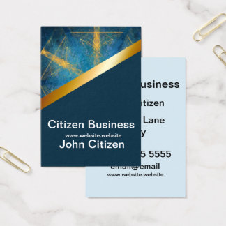Tribal mandala and dark blue 7 business card