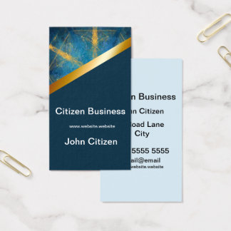 Tribal mandala and dark blue 8 business card