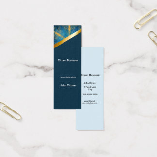 Tribal mandala and dark blue 9 business card