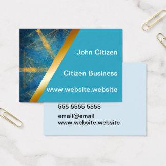 Tribal mandala and light blue 1 business card