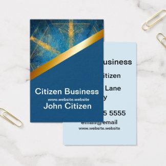 Tribal mandala and medium blue 7 business card