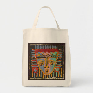 Tribal Mask Batik 1 Tote Bag
