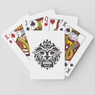Tribal Mask - White Playing Cards, Standard Index Playing Cards