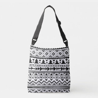 Tribal Mexican Aztec style pattern B&W bag
