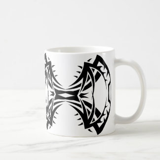 Tribal mug 14 black and white