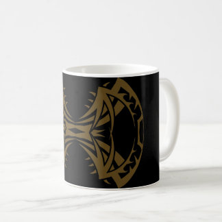 Tribal mug 14 single gold to over black